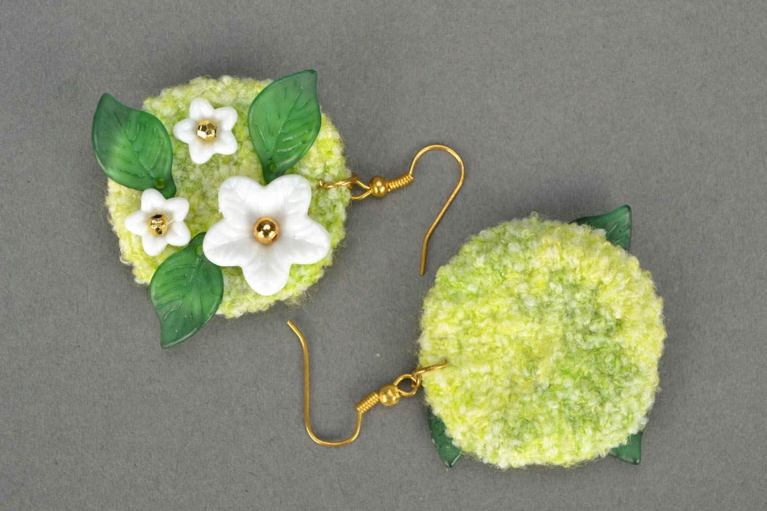 Crocheted earrings Spring photo 4