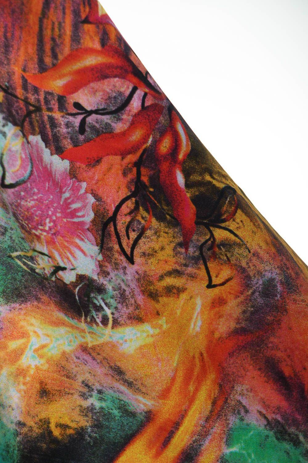 scarves and tippets Silk scarf with natural stones - MADEheart.com