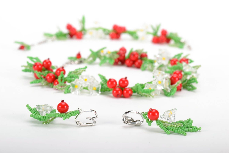 Set of beaded jewelry photo 4