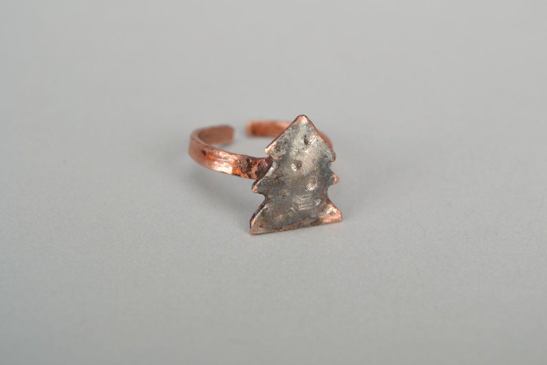 Kleiner Ring aus Kupfer Tannenbaum foto 3