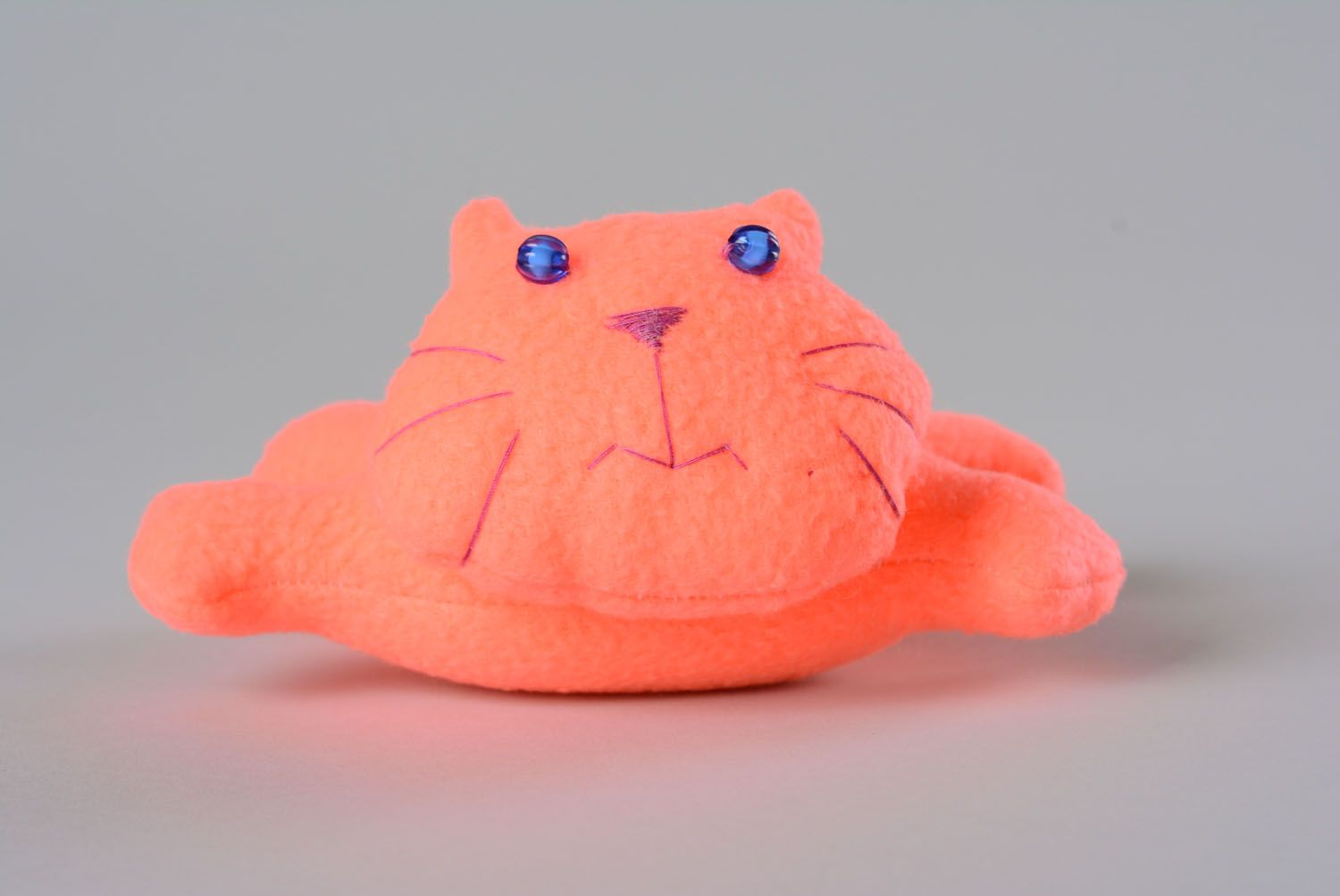 Soft toy made of fleece Pink Cat photo 3