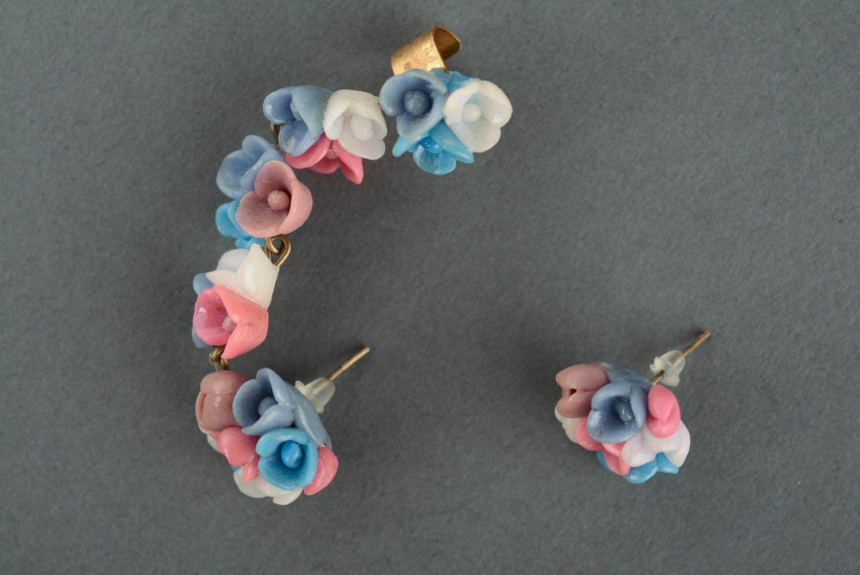 Cuff earrings June Flowers photo 2