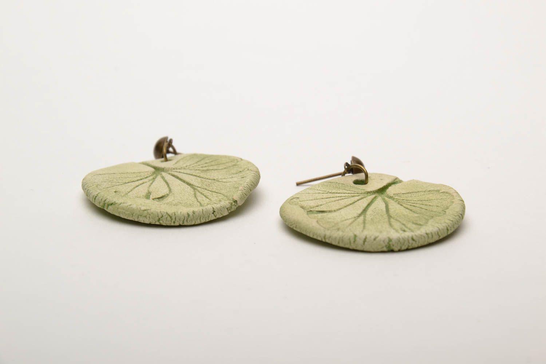 Круглые керамические серьги фото 4