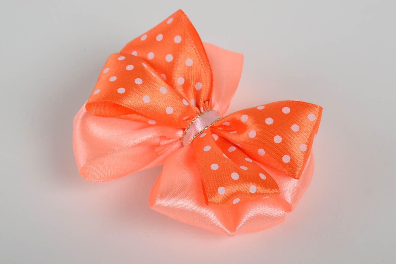 Nice handmade ribbon bow hair clip homemade barrette hair bow hair style ideas photo 2