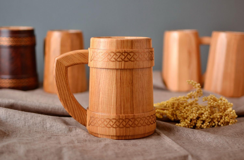 Как сделать деревянную кружку кружка из дерева Hand-made 58