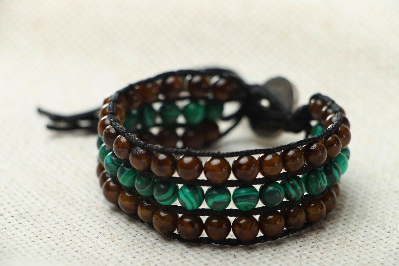 Designer bracelet with onyx and malachite photo 2