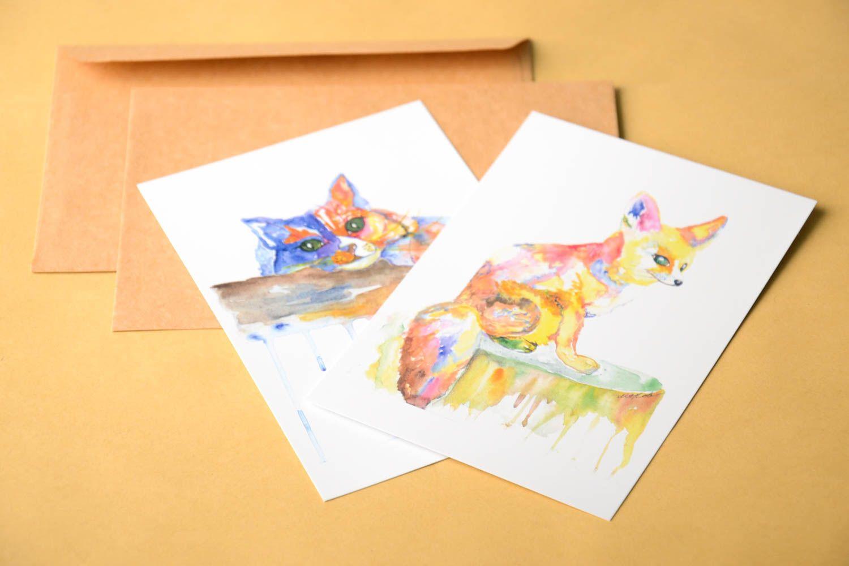 Handmade greeting card gift ideas unusual greeting card unusual 2 cards photo 1