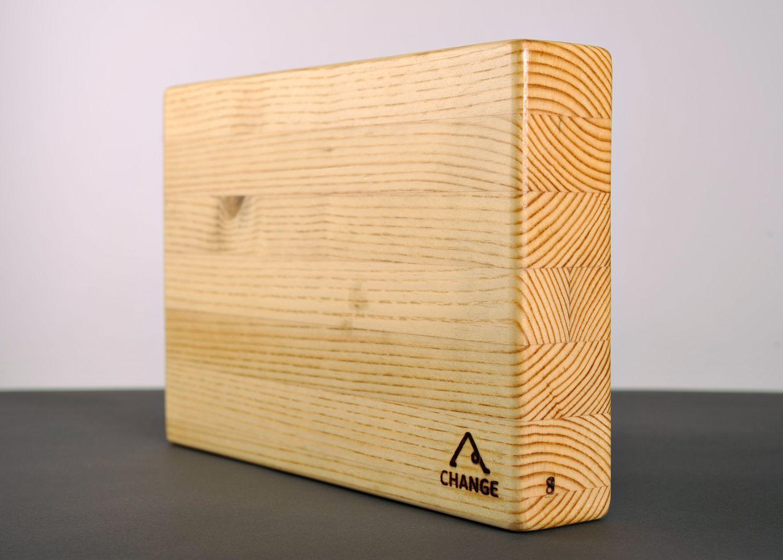 Larch wood yoga block photo 5