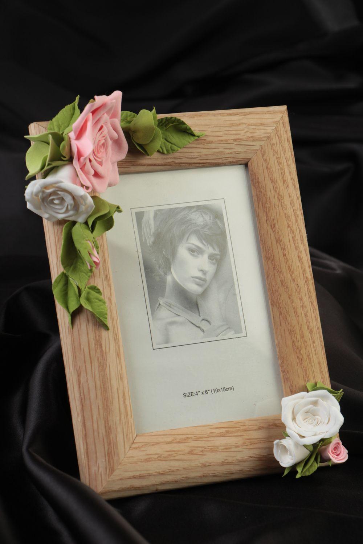MADEHEART > Marco para fotos con flores de arcilla polimérica hecho ...