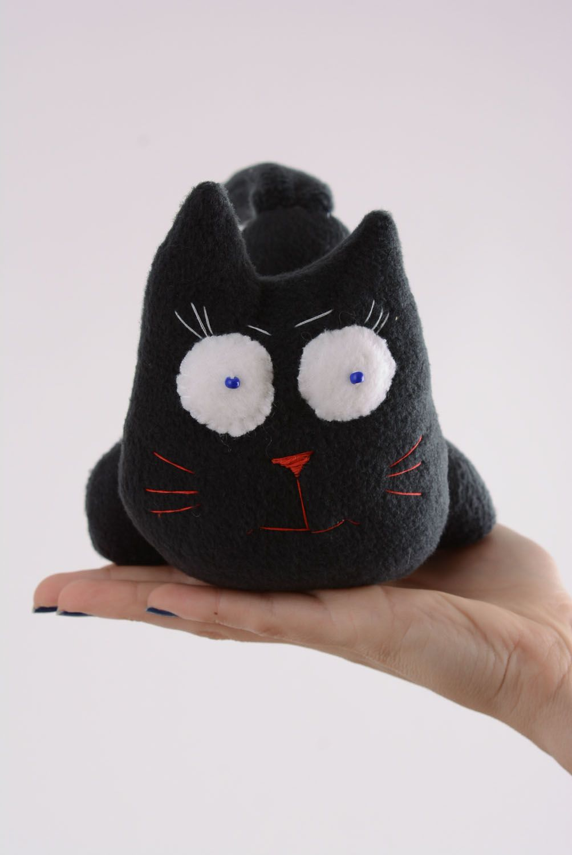 Fabric fleece toy Black Cat photo 4