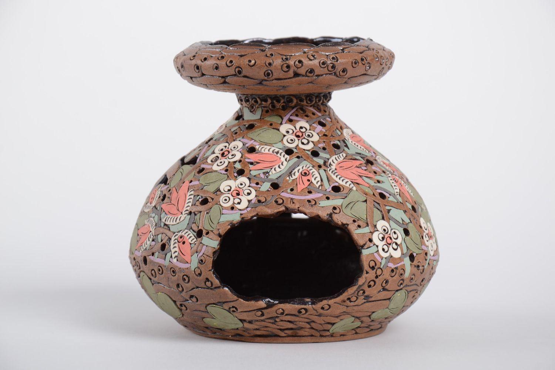Handmade carved designer candlestick stylish aroma lamp ceramic candlestick photo 2