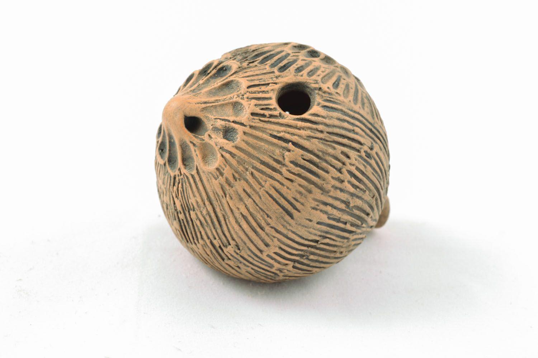 Handmade clay penny whistle photo 1
