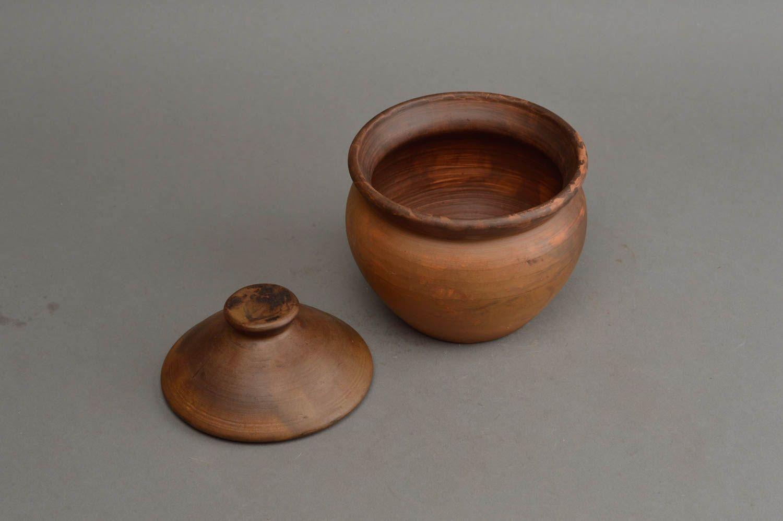 Madeheart pot en terre cuite avec couvercle marron - Cuisiner avec un tajine en terre cuite ...