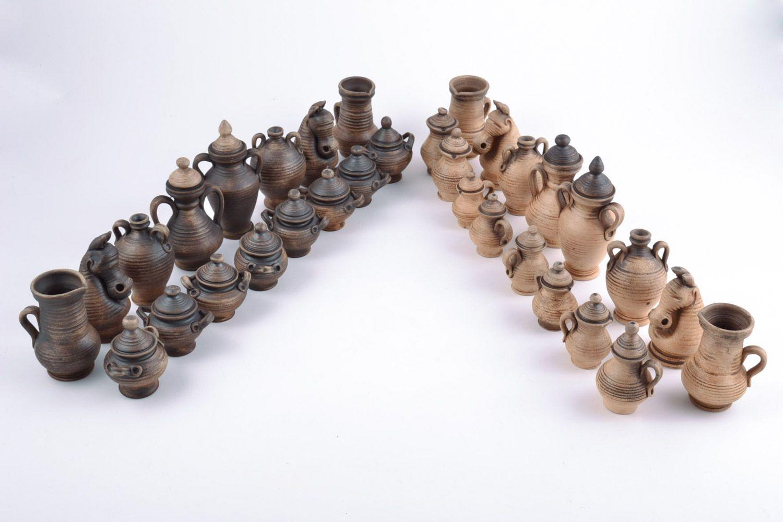 Авторские керамические фигурки для шахмат коллекционные ручной работы на подарок фото 3