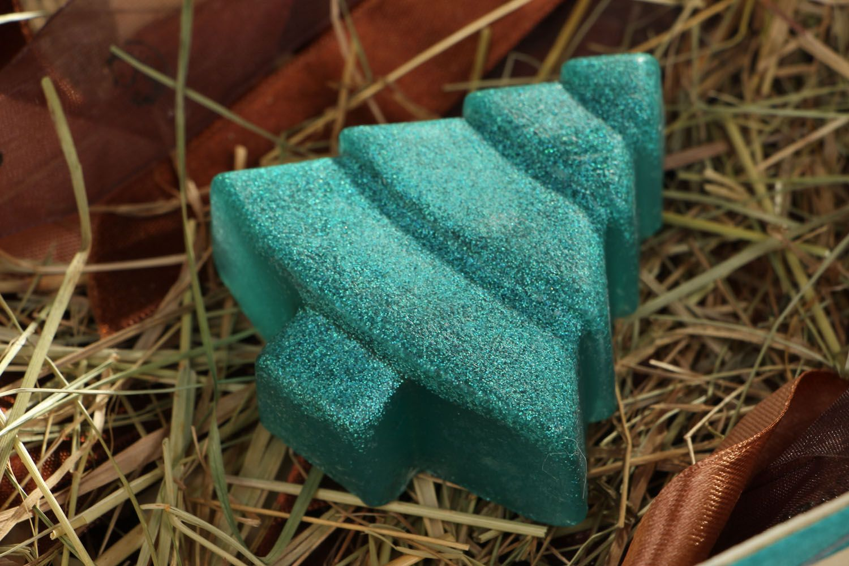 Homemade soap New Year's Tree photo 4
