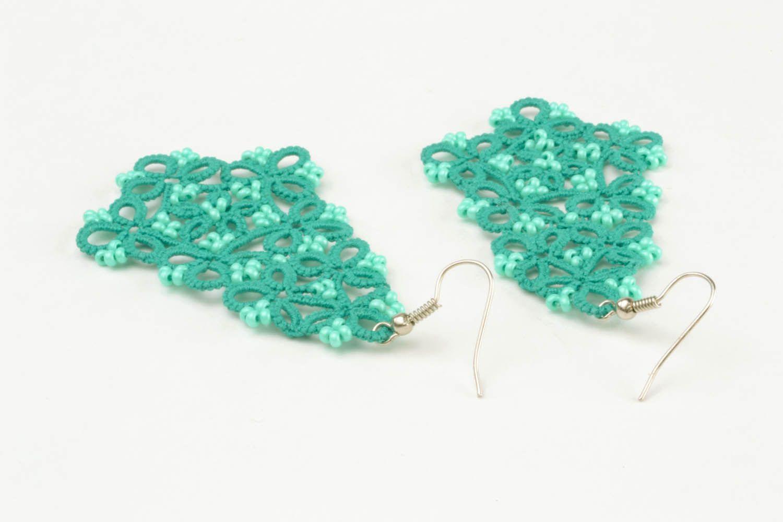 Lace blue earrings photo 3