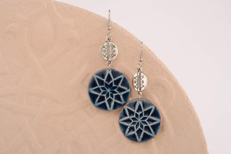 Round amulet earrings Female Alatyr photo 4