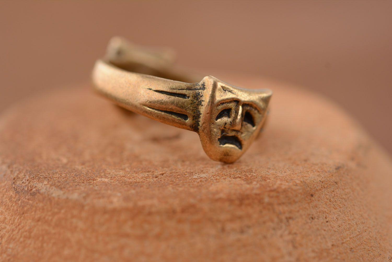 Кольцо из бронзы Маски фото 1