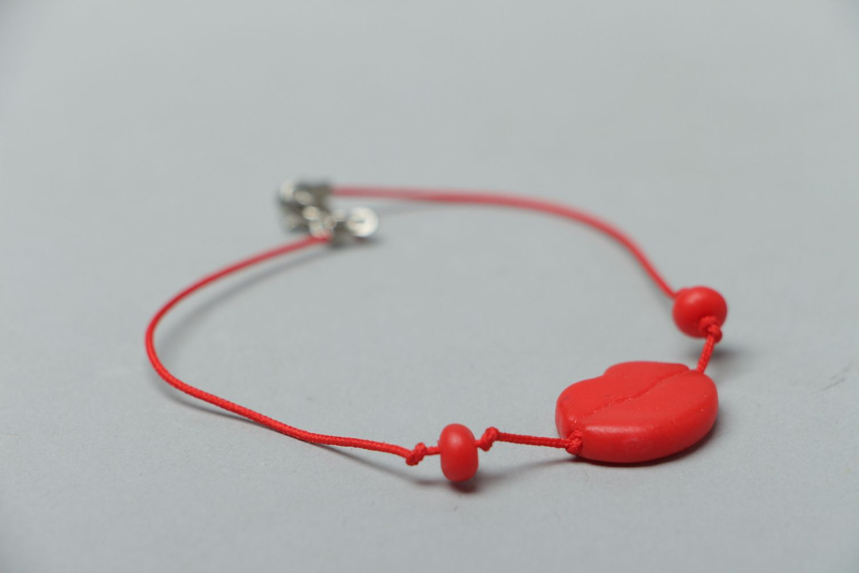 Bracelet avec breloque en pâte polymère  photo 2
