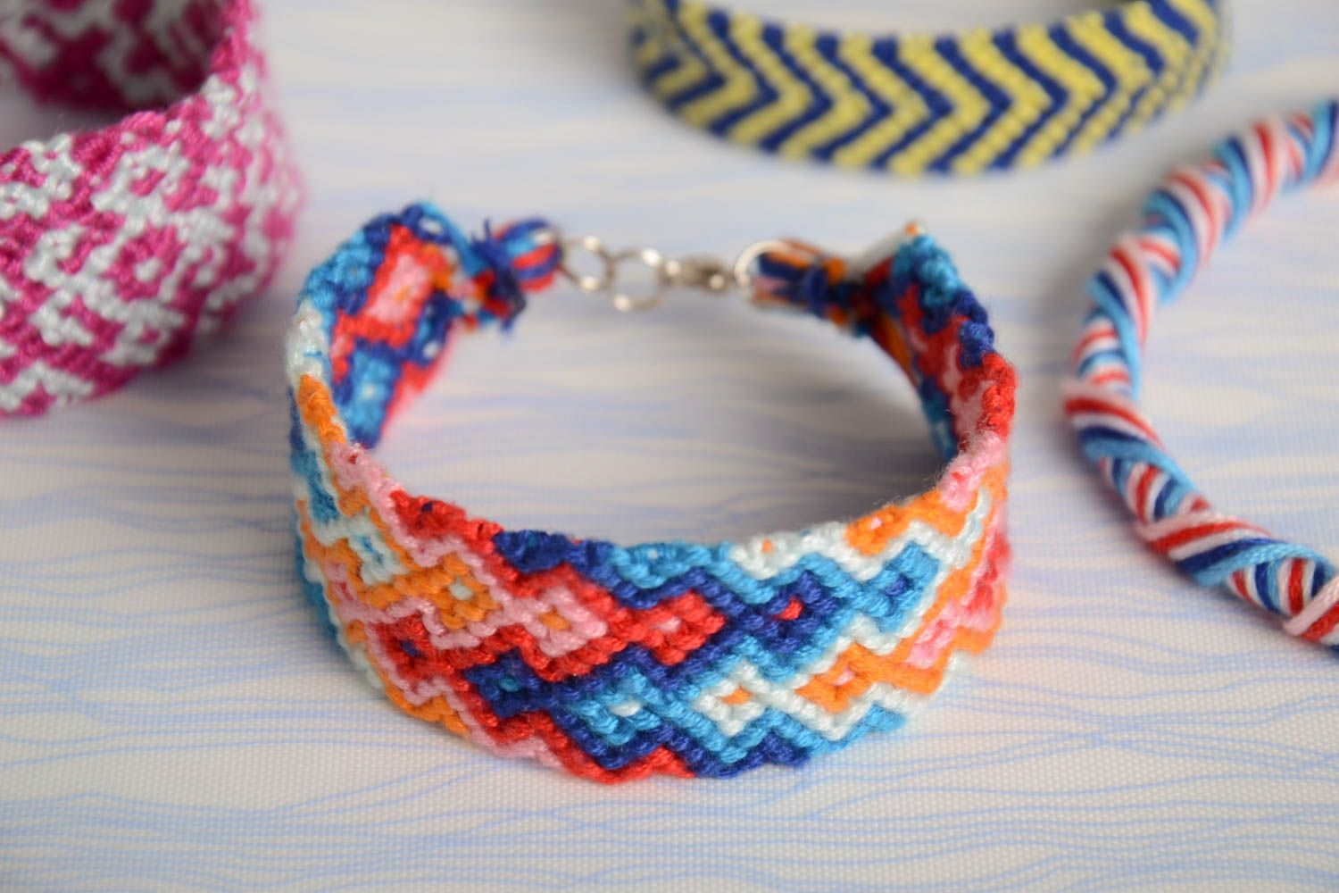stripe diamond floss diy bracelet embroidery the friendship bracelets