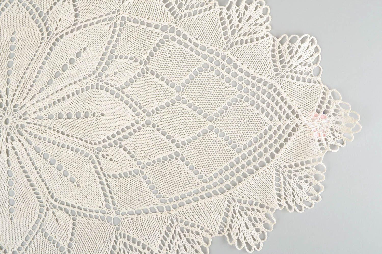 Handmade knitted napkin decorative lace napkin for coffee table interior ideas - MADEheart.com