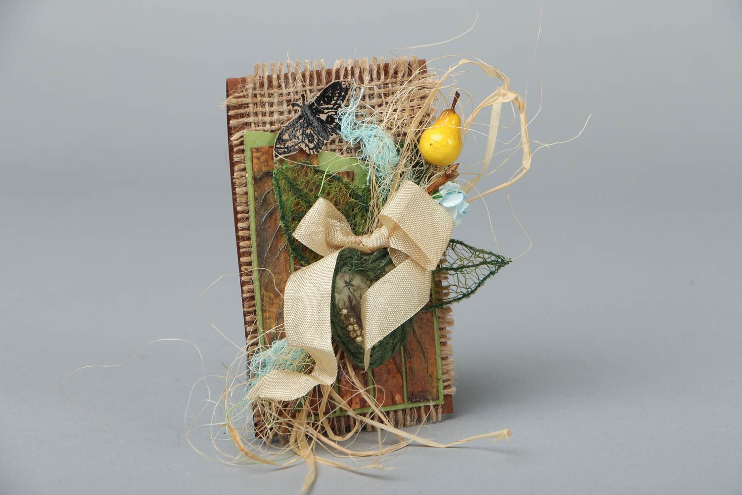 Handmade greeting card in eco style photo 1