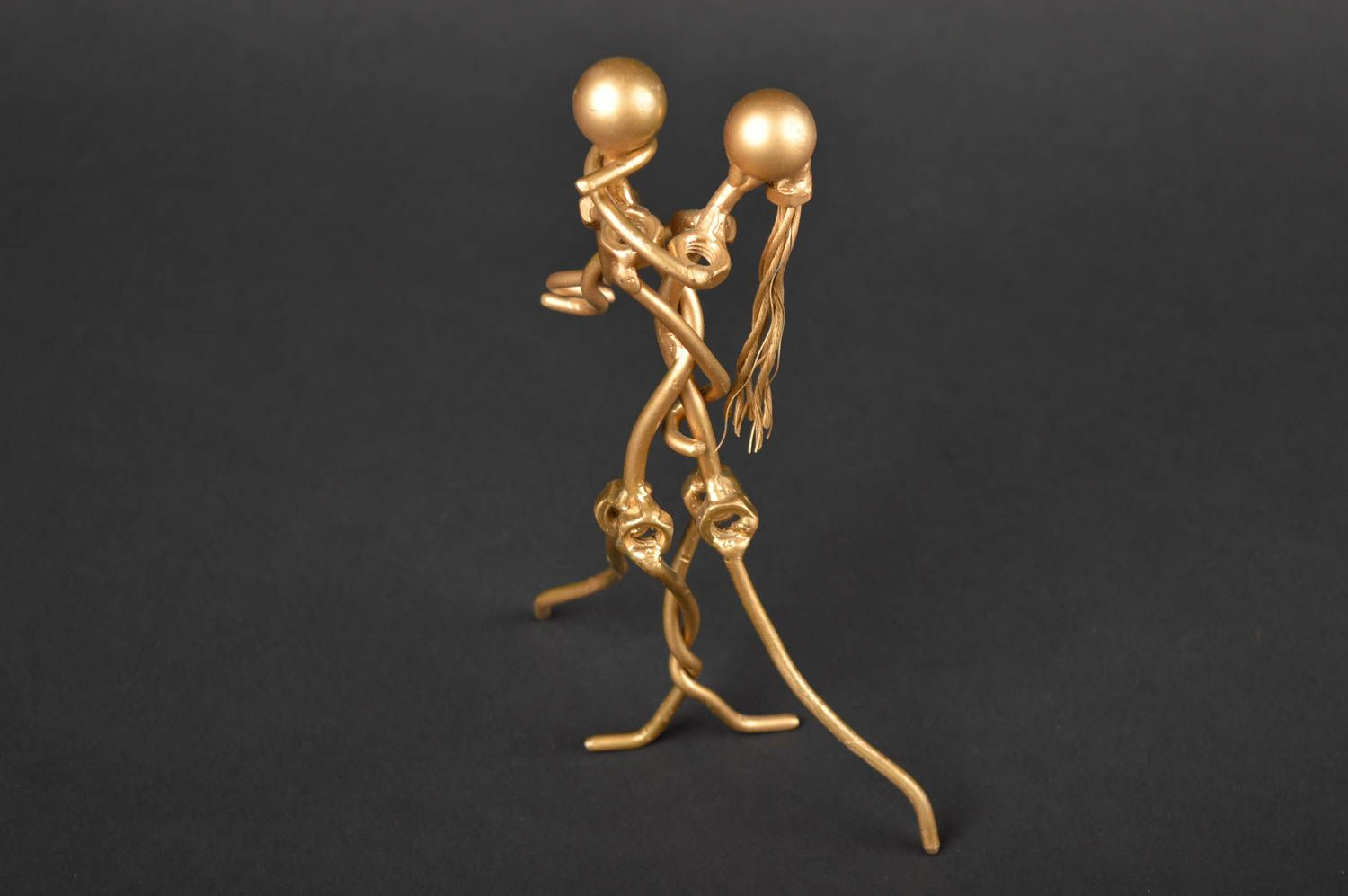 Handmade metal figurines of people for decorative use only housewarming gifts photo 1