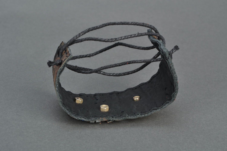 Handmade leather bracelet photo 4