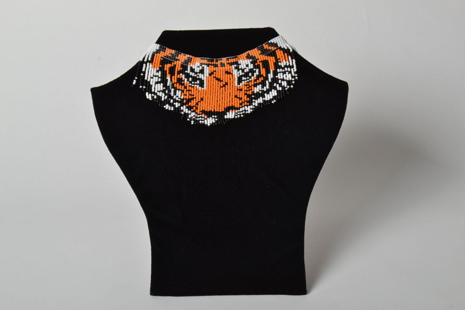 Homemade beaded necklace Tiger's Look photo 1