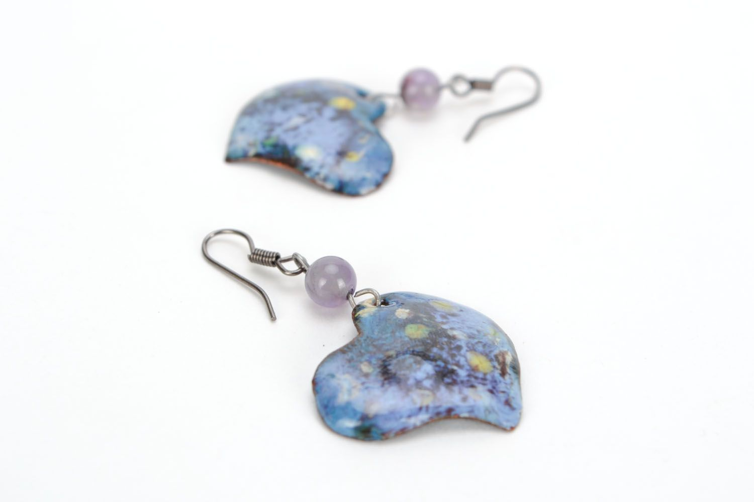 Dangling earrings with copper photo 4