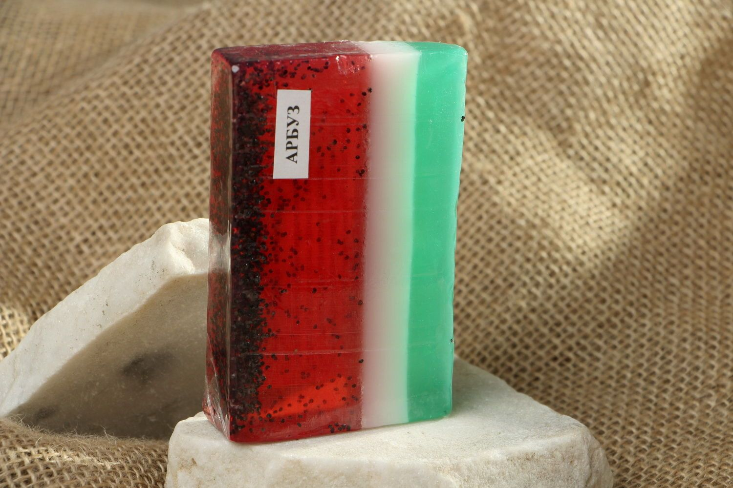 Homemade soap with the scent of watermelon photo 1