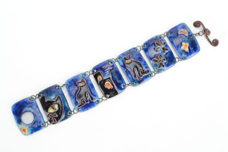 Kupfer Armband mit Emaille Nacht foto 2
