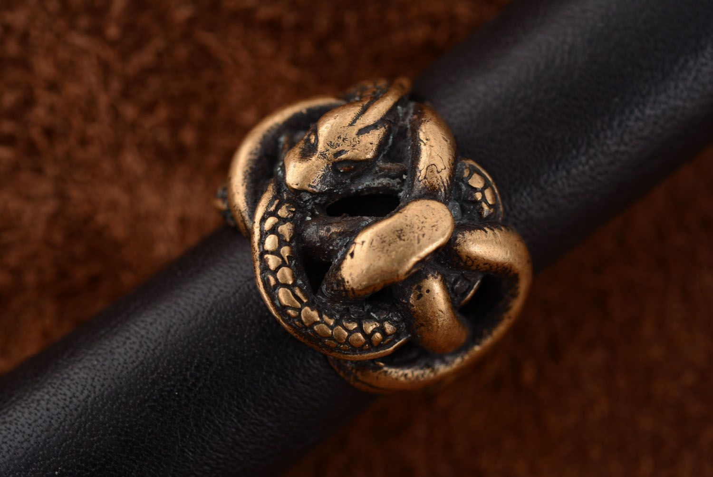 Homemade bronze ring photo 3