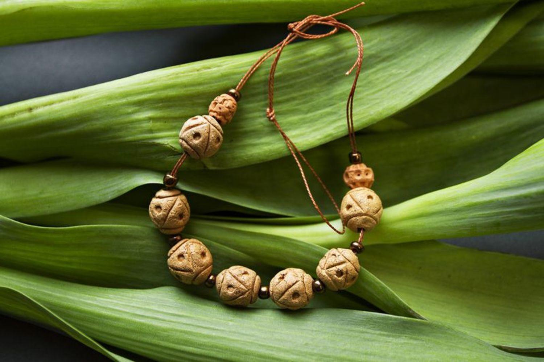 Керамический браслет в этническом стиле фото 2
