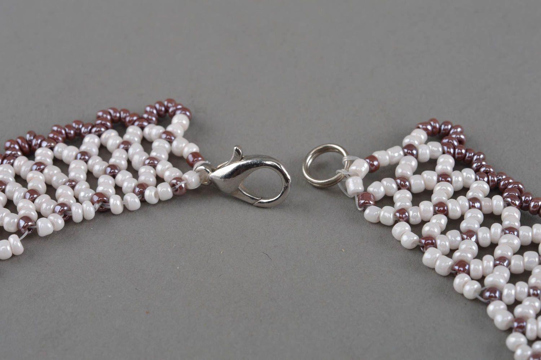 Handmade beaded necklace beautiful accessory elegant designer jewelry photo 4