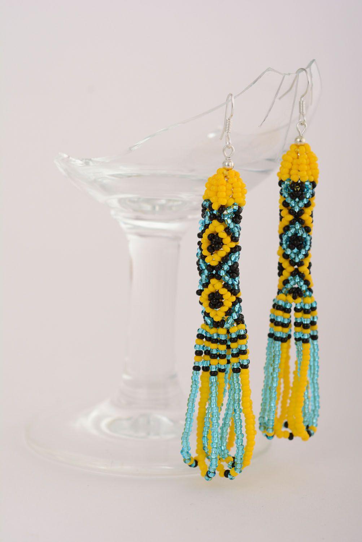 Ethnic beaded earrings photo 1