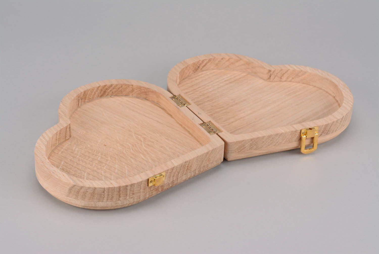 caixas para decoupage Caixa em branco de madeira na forma de coração  #966D35 1500x1003
