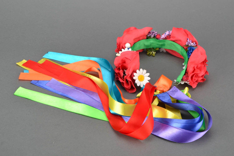 Head wreath in Ukrainian style photo 4