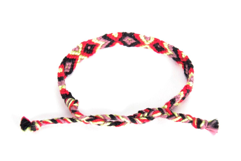 Bright woven friendship bracelet photo 4