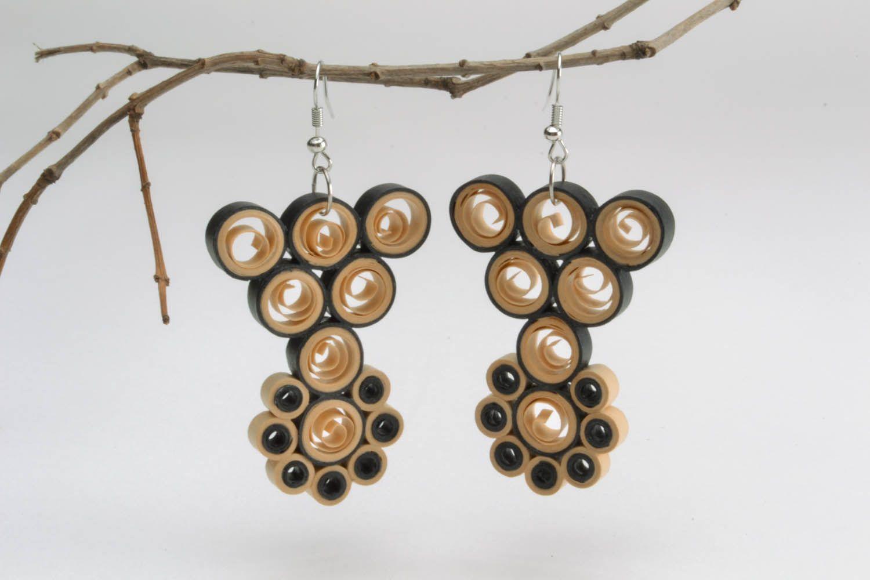Long pendant paper earrings  photo 1