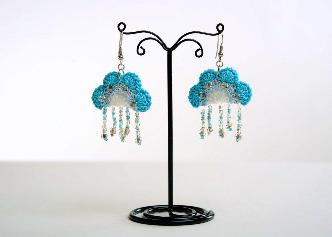 Acrylic earrings Heaven photo 1