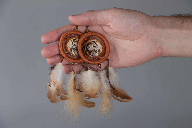 Earrings of unusual shape Dreamcatcher photo 5