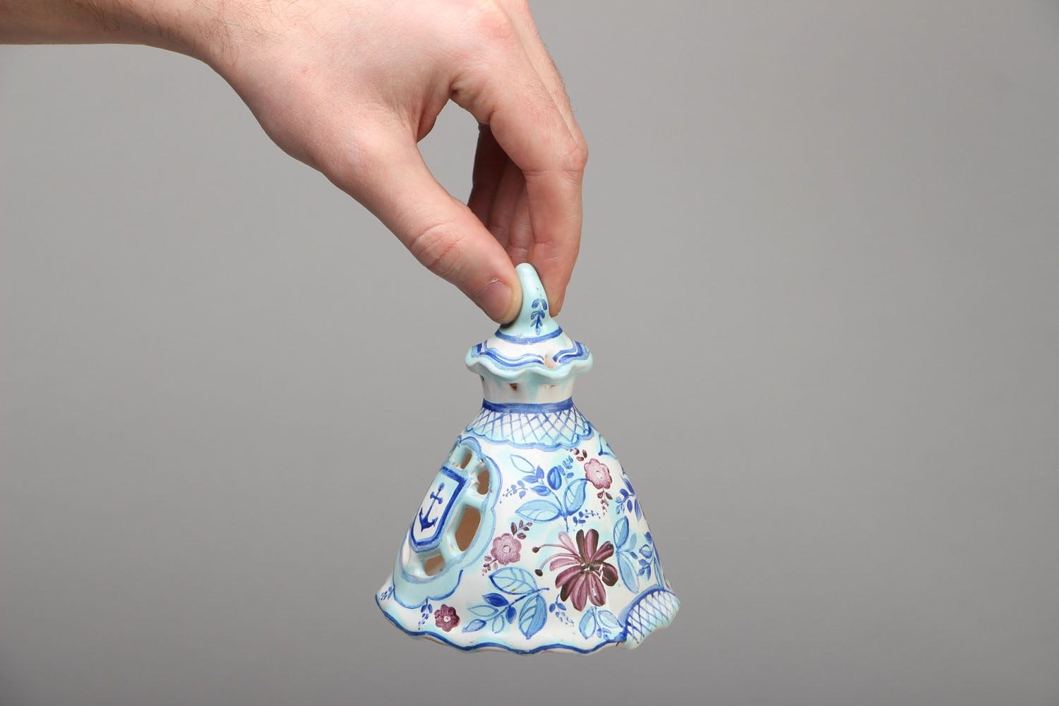 Ceramic bell with painting photo 4