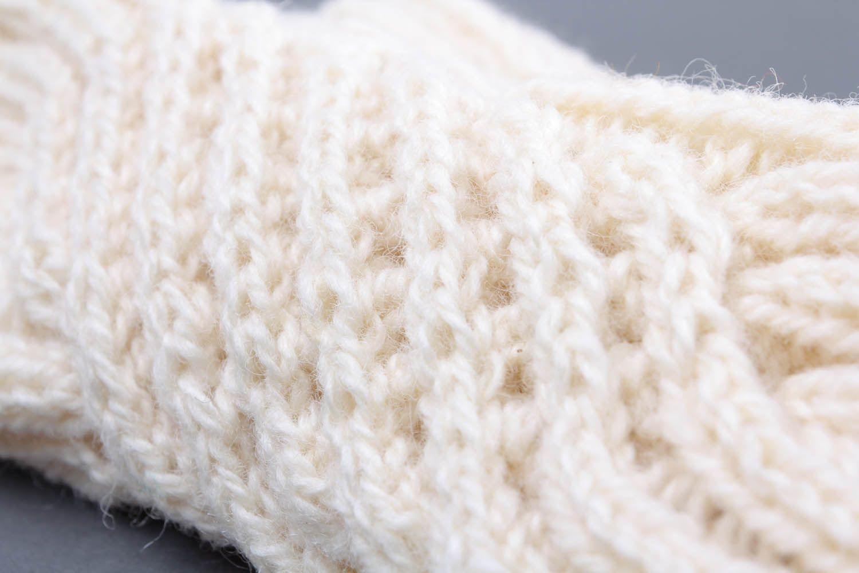 White women's mittens photo 3