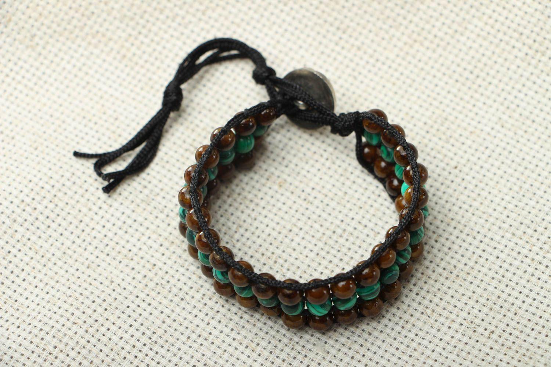 Designer bracelet with onyx and malachite photo 1