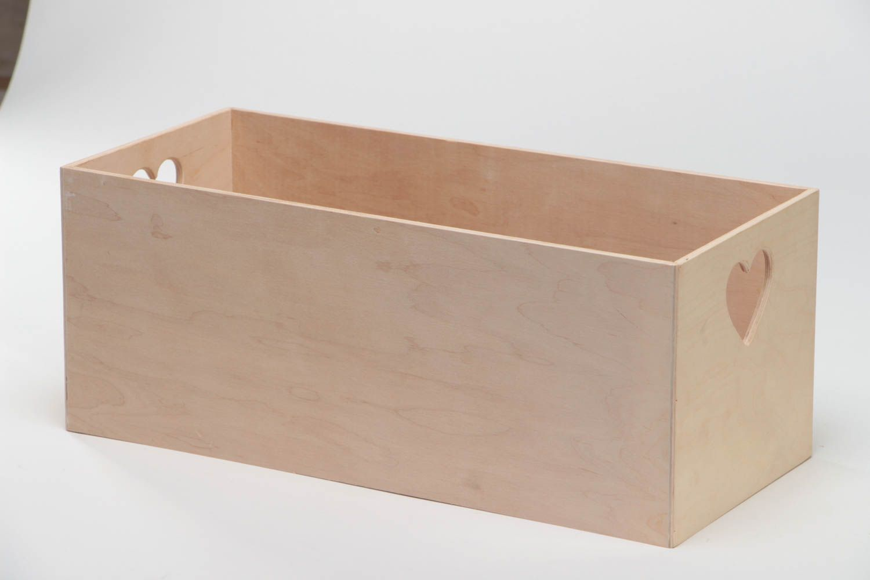 Madeheart pieza para manualidades caja larga rectangular - Manualidades pintar caja metal ...