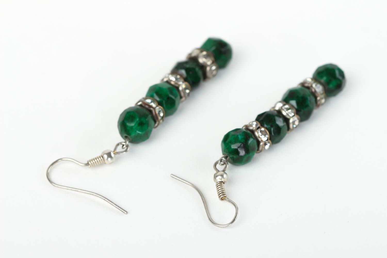 Beautiful handmade beaded earrings gemstone earrings costume jewelry designs photo 4