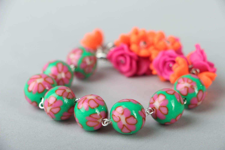 Polymer clay bracelet photo 2