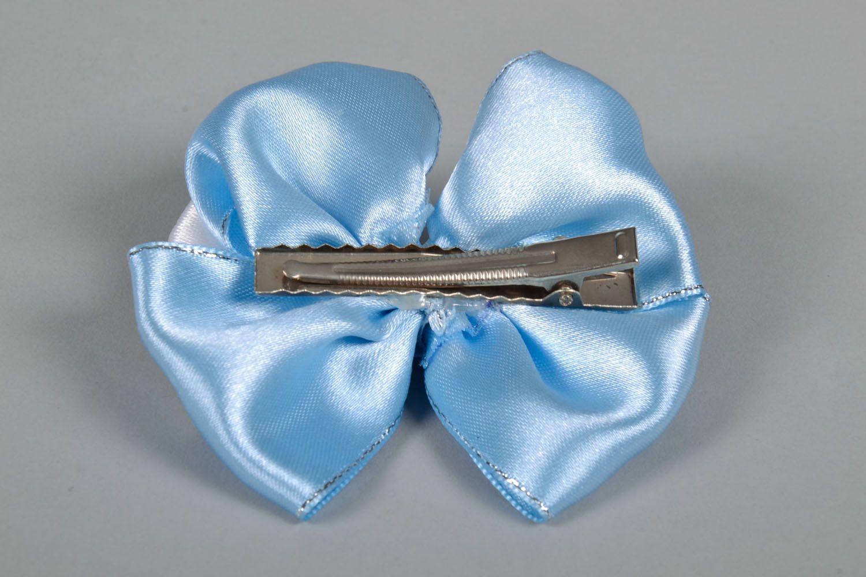 Satin bow hair clip photo 5