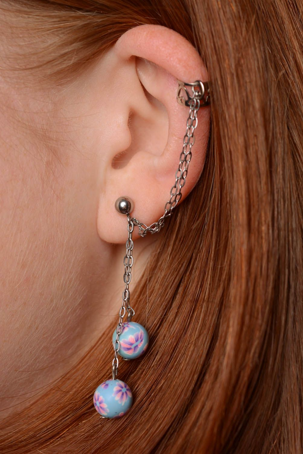 Earrings cuffs Courage photo 3